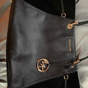 Michael kors tote bag with suede details on sid